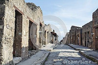 Pompeii Roman Ruins Stone Street
