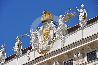 Pompous decoration of Hofburg, Vienna