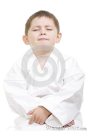 Pompous little karate kid