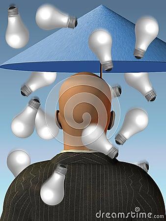 Pomysł mózgu deszczu burza