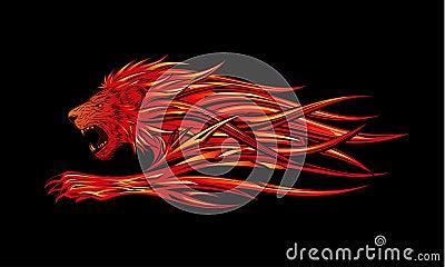 Płonący lew