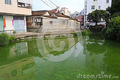 Pond of ancient dwellings Editorial Photo