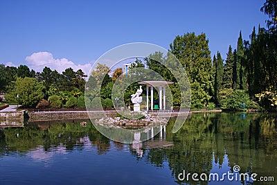 Pond in the Arboretum park