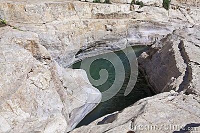 Pond in the rocks