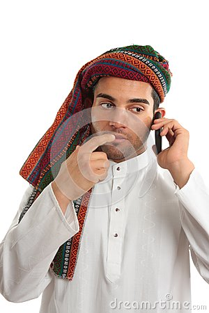 Pondering arab businessman