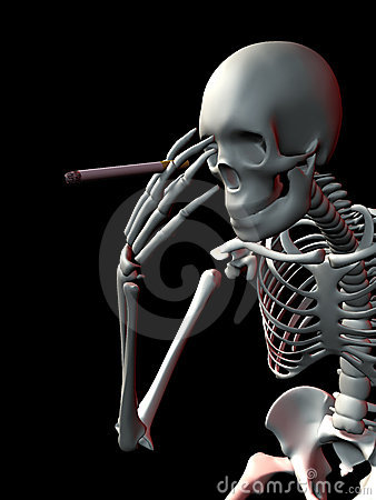 Pondering skeleton smoker
