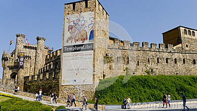 Ponferrada castle, Leon province, Spain, Editorial Photography