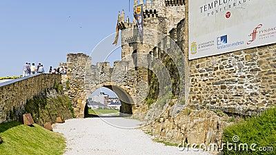 Ponferrada castle, Leon province, Spain, Editorial Stock Image