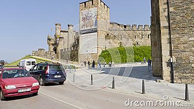 Ponferrada castle, Leon province, Spain, Editorial Photography