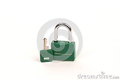 Ponga verde el bloqueo con clave