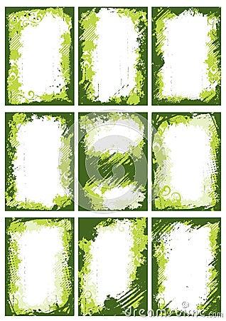 Ponga verde las fronteras o los marcos