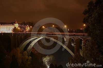 Pont-Adolphe, Luxembourg by night
