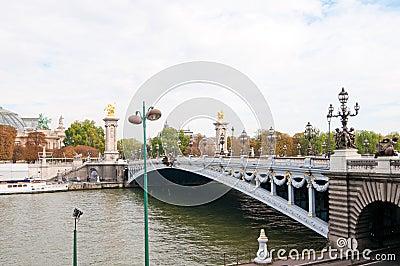 Pont Alexandre III - Bridge in Paris.