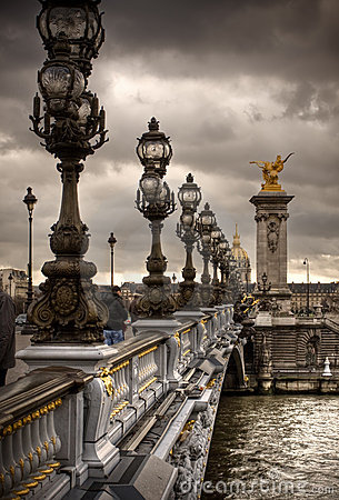 Pont Alexandre III - Bridge In Paris, France. Royalty Free Stock Image - Image: 12943906
