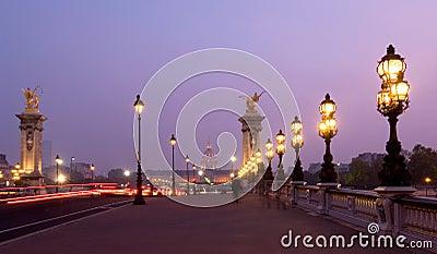 Pont alexandre iii at dusk