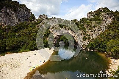 Pont d arc at the ardèche river