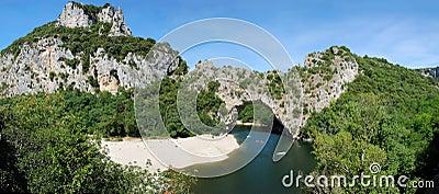 Pont d  Arc - panorama 180 °