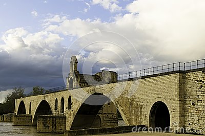 Pont d Avignon in Avignon, France