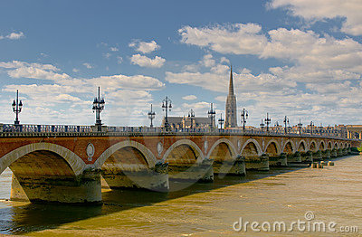 Pont de pierre, Bordeaux, France
