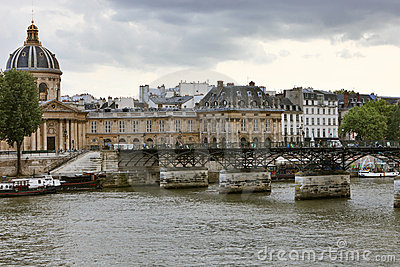 Pont des Arts and L Institut de France.
