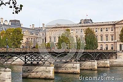 Pont des Arts through Seine. Editorial Photography