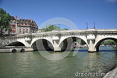 Pont du Carrousel in paris france