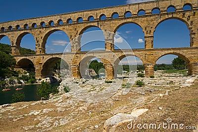 The Pont du Gard in Provence (France)