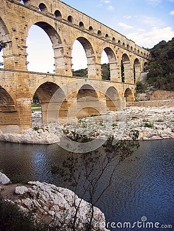 Free Pont Du Gard Roman Aquaduct Nimes River France Royalty Free Stock Photos - 45328