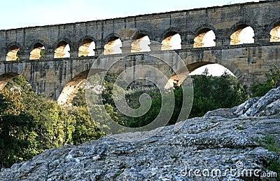 Pont du Gard, a Roman aqueduct in France