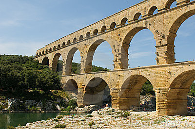 Pont du Gard, roman bridge in Provence, France