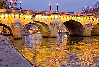 Pont Neuf at Dawn, Paris