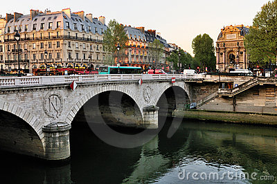 Pont Neuf in the morning Editorial Stock Photo