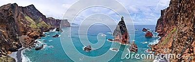 Ponta de Sao Lourenco peninsula, MadRocks of Ponta de Sao Lourenco peninsula - Madeira island Stock Photo