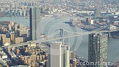 Ponte de Manhattan sobre o rio East, na cidade de Nova Iorque vídeos de arquivo
