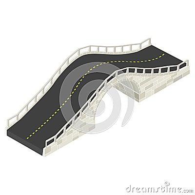 Ponte de pedra isométrica