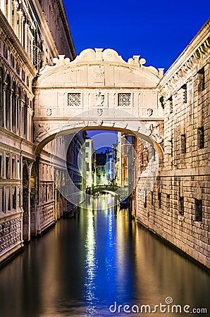 Ponte dei Sospiri in Venice, Bridge of Sighs