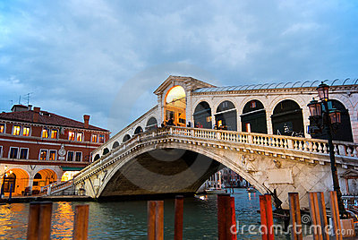 Ponte di Rialto. Venice. Italy Editorial Photo