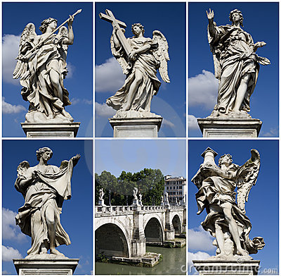 Ponte Sant Angelo, Rome, collage