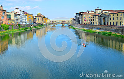 Ponte Vecchio and Arno river in Florence - Italy