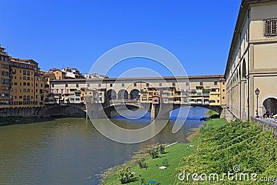 Ponte Vecchio - famous old bridge in Florence