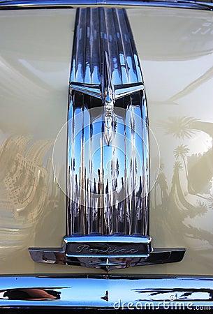 1950 Pontiac Chieftain Silver Streak front view Editorial Photo