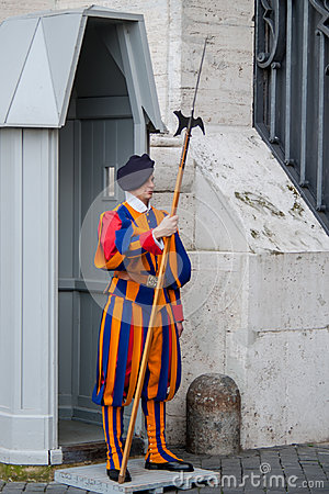 Free Pontifical Swiss Guard. Royalty Free Stock Images - 98558579