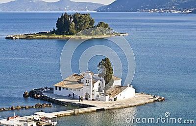 Pontikonisi area in Corfu