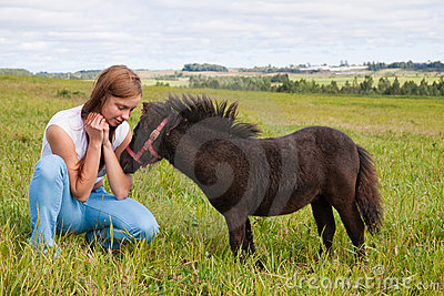Pony and girl