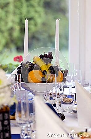 Położenie świąteczny stół