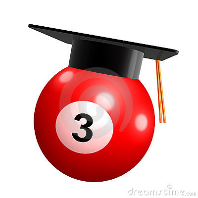 Pool ball graduation celebration icon