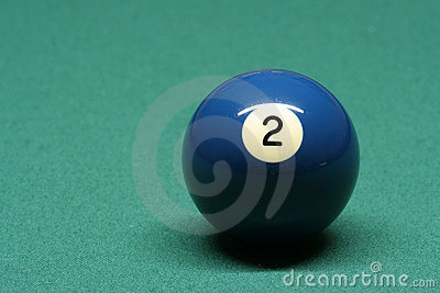 Pool ball number 02