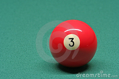 Pool ball number 03