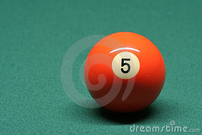 Pool ball number 05