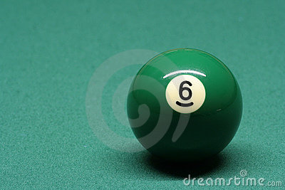 Pool ball number 06